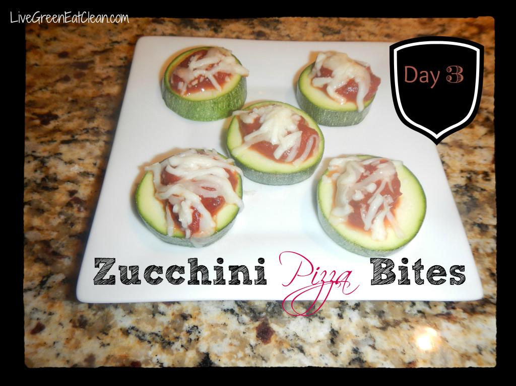 Day 3 - Zucchini Pizza Bites - Blog