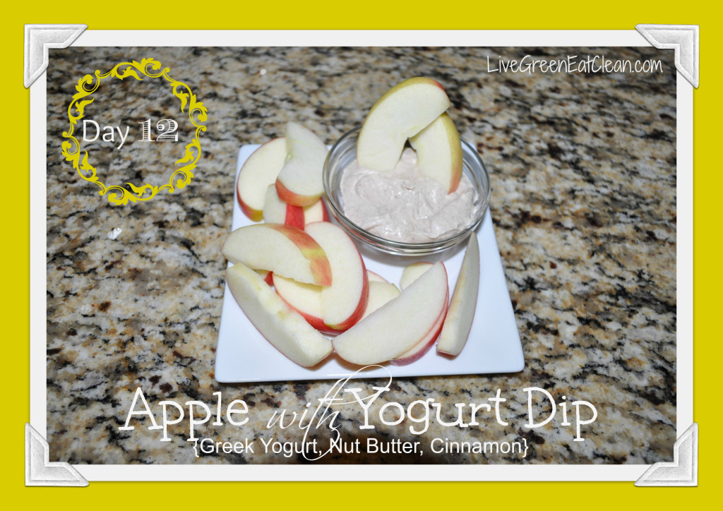 Day 12 - Apple Yogurt Dip Blog