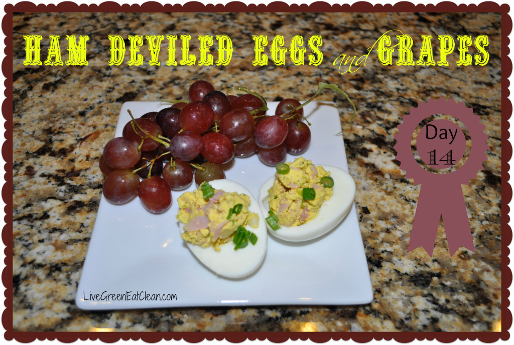 Day 14 Ham Deviled Eggs Blog