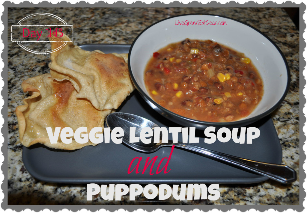 Day 16 Veggie Lentil Soup Blog