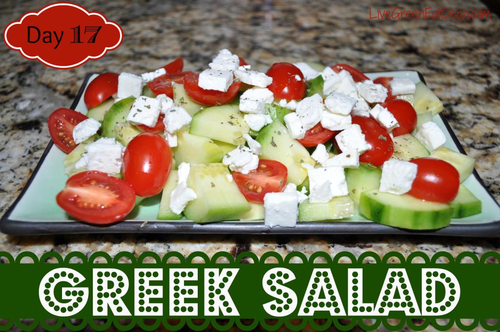 Day 17 Greek Salad Blog