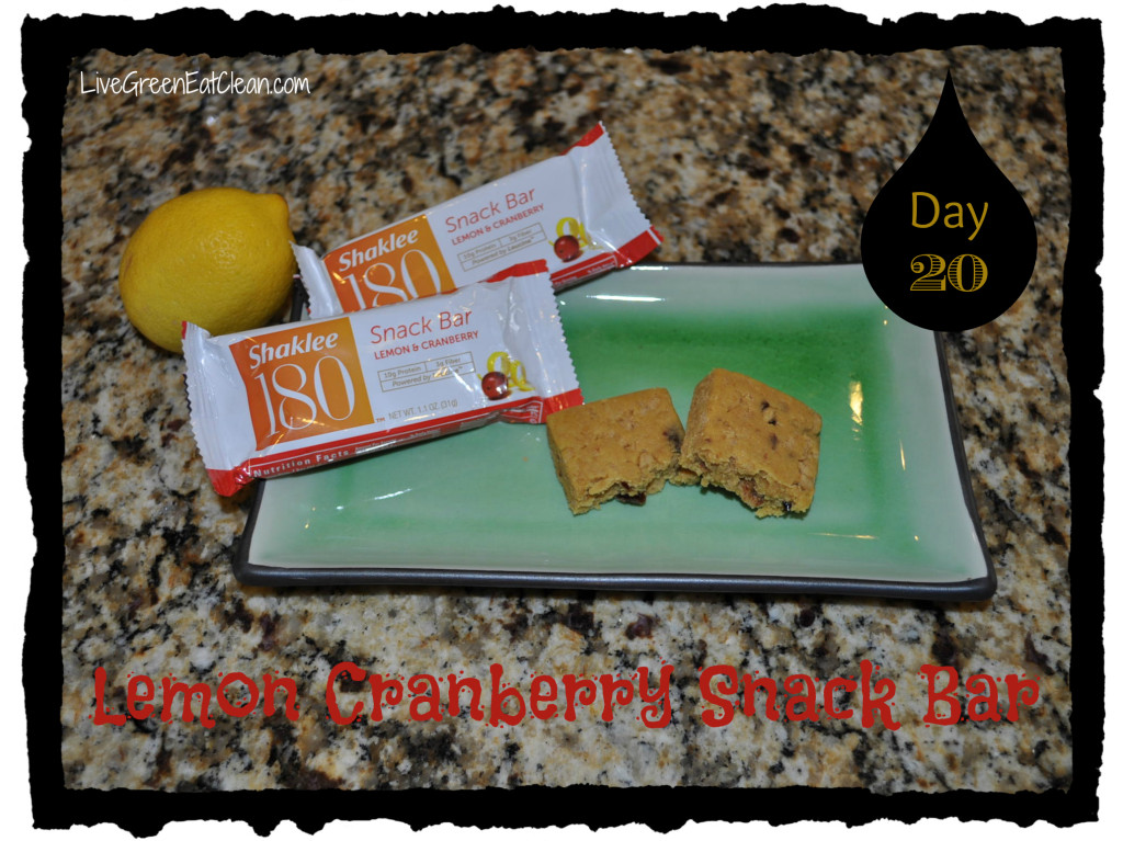 Day 20 Lemon Cran Bar Blog