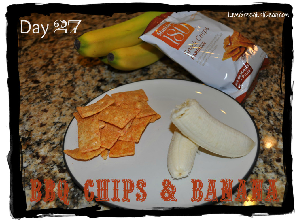 Day 27 BBQ Chips Banana Blog