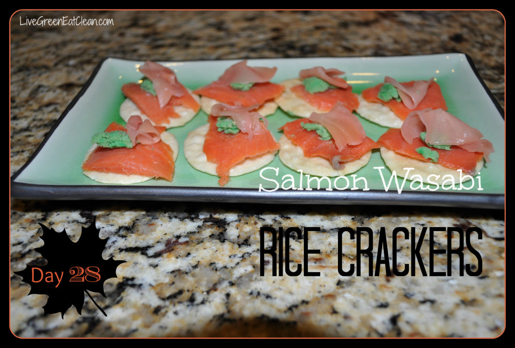 Day 28 Salmon Rice Crackers Blog