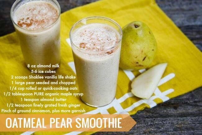 Oatmeal Pear Smoothie